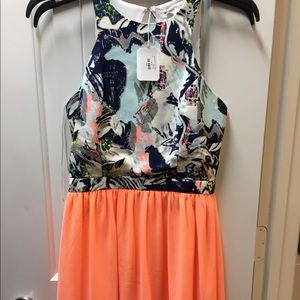 Anthropologie Gorgeous open back flowy dress